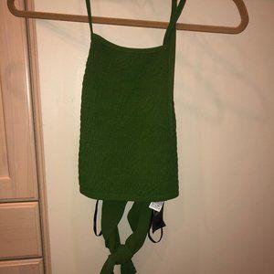 Woven Top/Halter Green